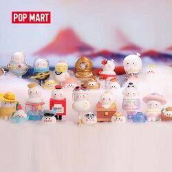 Pop mart caixa inteira bobo e coco wanderlust série arttoys figura ação caixa cega kawaii doce bonito presente crianças brinquedo frete grátis