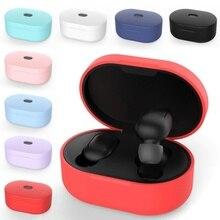Universal Silicone Earphone Case For Xiaomi Redmi AirDots Headphone Cover Box TWS Bluetooth Wireless