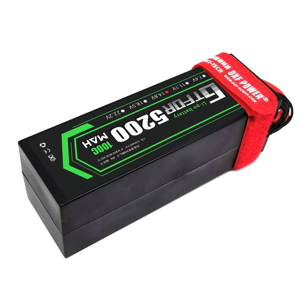 GTFDR 2PCS 4S Lipo Battery 14.8V 5200mAh 6200mAh 6500MAH 8400mah 100C 200C 110C 220C for X-MAXX RC Car 1/8 1/10 buggy truck enlarge