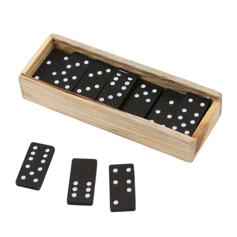 28 Pcs/Set Wooden Domino Board Games Travel Funny Table Game Domino Toys Kid Children Educational To