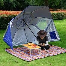 Outdoor Camping Vissen Wandelen Paraplu Draagbare Zon Onderdak Strandtent Zomer Easy Setup Luifel Schaduw Uv Luifel HW188