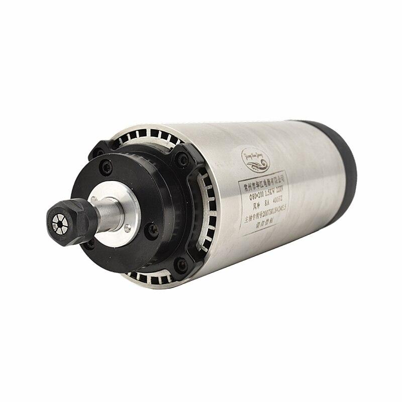 0.8KW 1.5KW 65-80 مللي متر ER11 نك طحن المغزل 24000 دورة في الدقيقة المغزل المحرك 220 فولت أس 4 تحمل تبريد الهواء النقش المغزل آلة