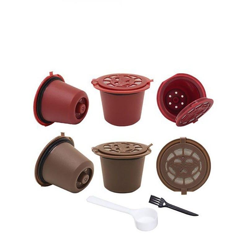 4PCS Nespresso Refillable Reusable Nespresso Coffee Capsule 20ML Filters Reutilisable Coffee Capsule Nespresso Cups Spoon Brush