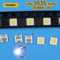 120pcs 1w 3v 3535 tv backlight led smd diodes cool white lcd tv backlight televisao tv backlit diod lamp repair application