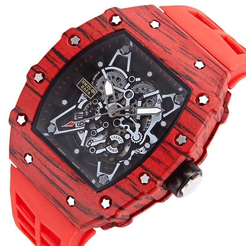 Super Mens Tonneau Watches Waterproof 316L Stainless Steel Wristwatch Quartz Luxury Sport Waterproof Chronograph Fashion Gift