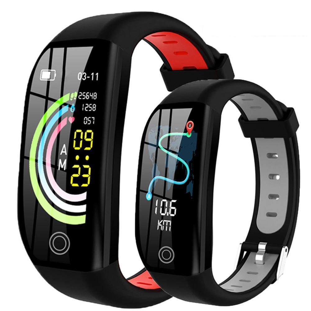 سوار معصم متصل F21 ، شاشة ملونة عالية الدقة 1.14 بوصة ، معدل ضربات القلب ، ضغط الدم ومراقبة النشاط البدني ، مقاوم للماء ، عدة لغات
