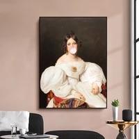 Affiche Vintage a bulles gomme pour femme  figurine europeenne classique  toile dart mural  peintures nordiques abstraites  images pour decoration de maison