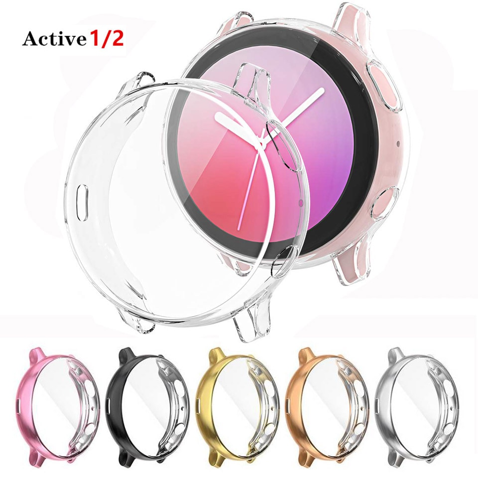Case For Samsung galaxy watch active 2 active 1 cover bumper Accessories Protector Full coverage sil