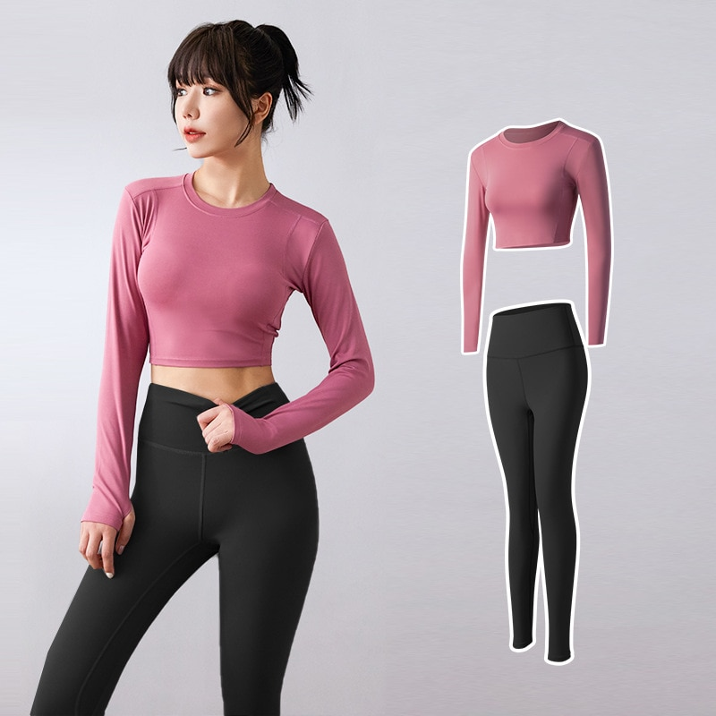 Yoga Clothing Set Sports Suit Women Sportswear Sports Outfit Fitness Set Athletic Wear Gym Seamless