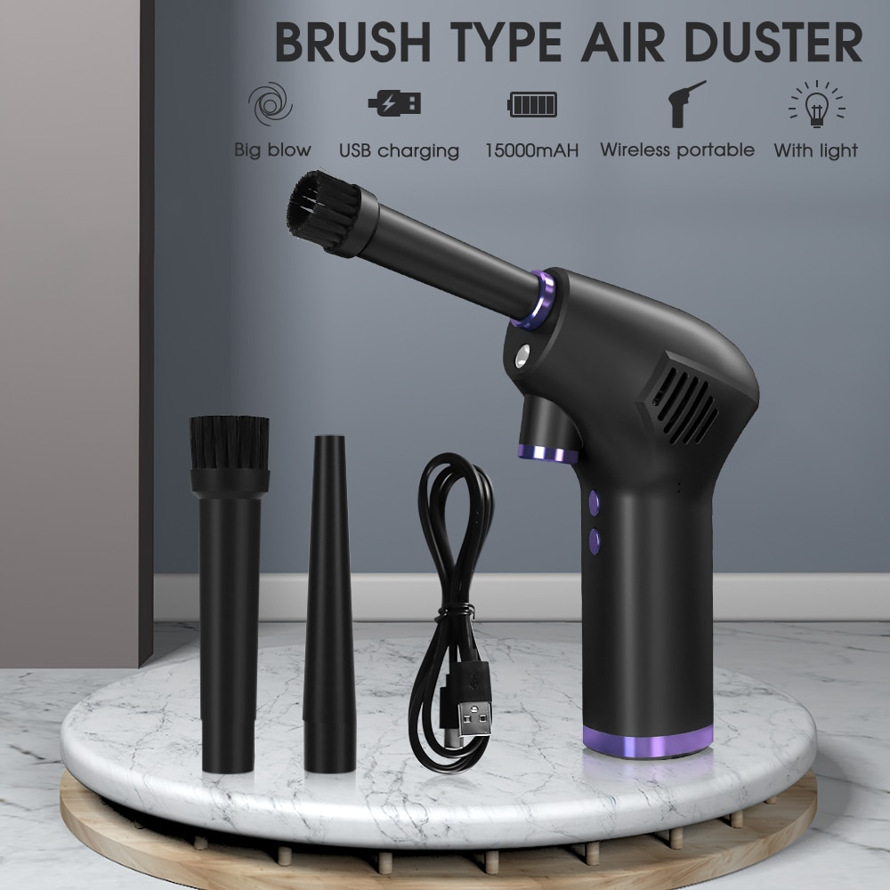 Cordless Air Duster for Computer Laptop Rechargeable Car Vacuum Cleaner Compressed Air Blower Cleani