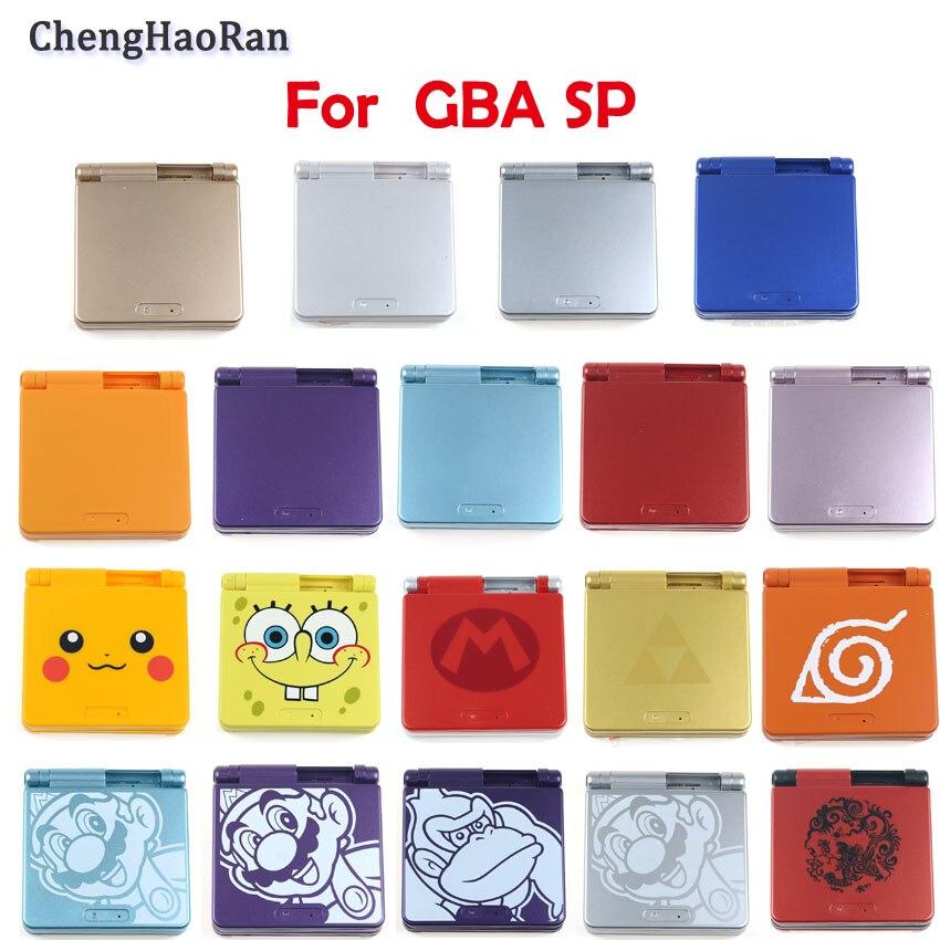 Honghaoran para Nintend GBA carcasa SP Game boy advance gba carcasa SP color cáscara Super María nueva carcasa 19 colores