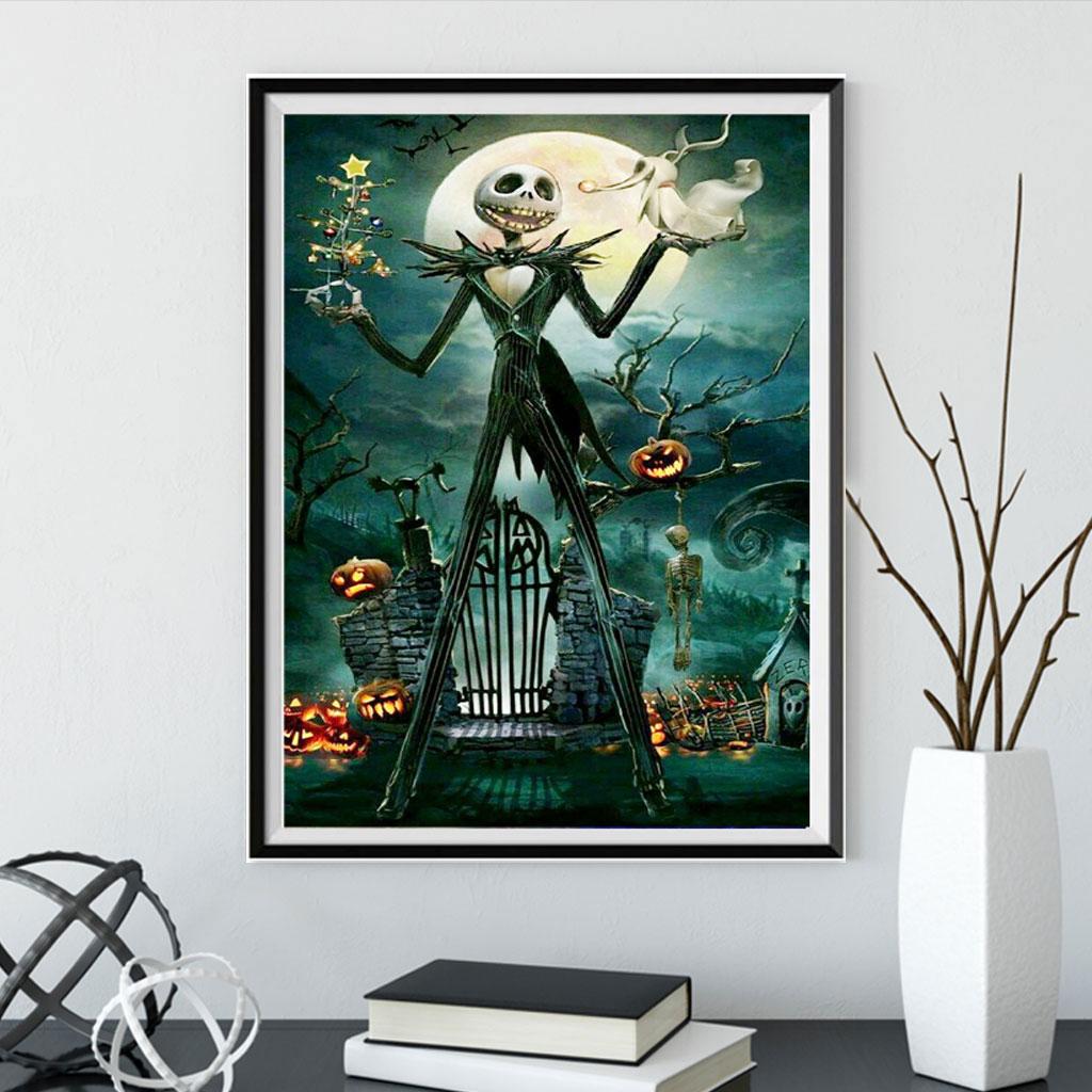 5D pintura de diamantes DIY regalo de Halloween tallo de calabaza bordado de diamantes pintura de punto de cruz 2019 bordado de diamantes
