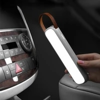 solar car emergency light rechargeable led auto interior reading light portable night light magnetic car signal lamp