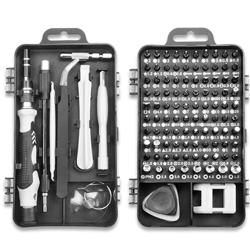 115 In 1 Multi Screwdriver Set Precision Torx Hex Screw Driver Bit Kit Magnetic Bits tools Repair Mobile Phone Laptop Hand Tools