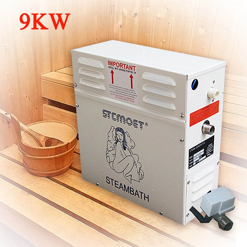 9KW 220V/380V hogar máquina de vapor portátil Sauna generador de vapor de la habitación de la Sauna de vapor seco habitación vapor controlador Digital ST-90