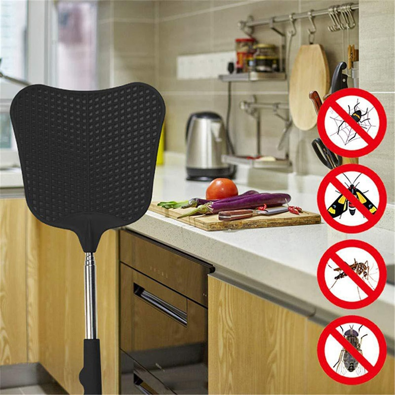 Hot 12cm Banana-Shaped Mosquito and Fly Anti-Fly Plastic Fly Swatter Random Color Household Tool Telescopic Fly Swatter