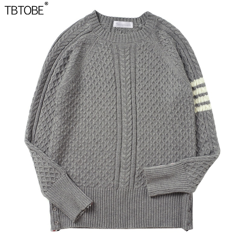 2021 new men's wool sweater button design four line TBTOBE high quality sheep's wool pullovers spring winter style warm fashion