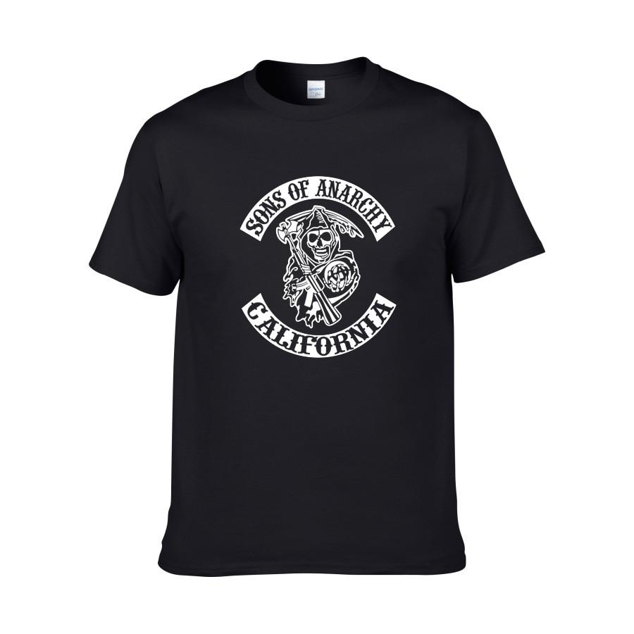 Sons of anarchy the child Fashion SAMCRO Print T-Shirt Men/women Fashion Hip Hop short sleeve Cotton Casual Mens Tee Shirts
