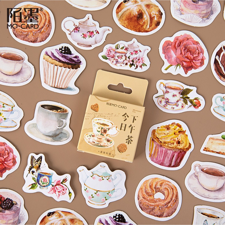 46-pz-pacco-torta-dessert-bevanda-stile-adesivi-per-etichetta-diario-di-cancelleria-album-diario-pianificatori