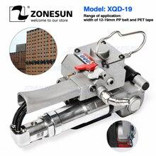 ZONESUN AQD-19 Tragbare Pneumatische PET Strapping Werkzeug, banding Werkzeug Bindung Verpackung Maschine Für 12-19mm PP Kunststoff Strap