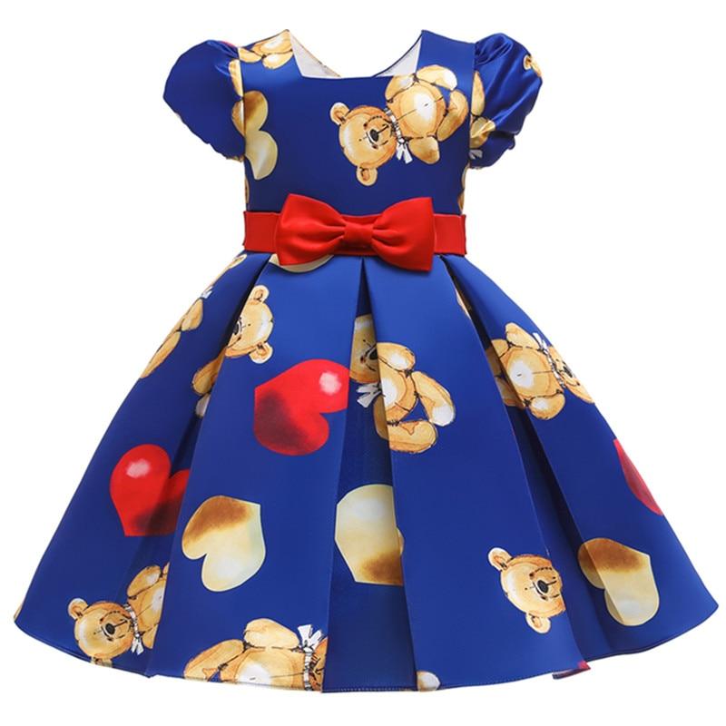 Menina vestido de natal listrado imprimir roupas de bebê meninas crianças vestidos para meninas vestido de festa de aniversário das crianças roupas de moda