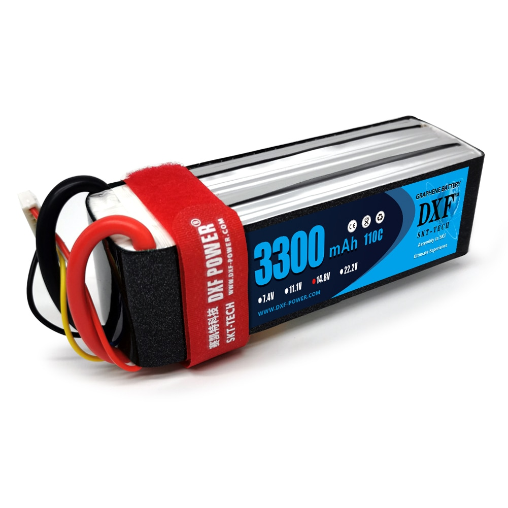 DXF Lipo Battery 4S 14.8v 3300mah 110C Max 220C 4S LiPo batteries  For RC Helicopter car Boat Quadcopter FPV Boat enlarge