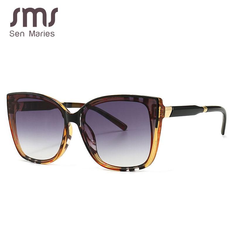 Sen Maries Square Sunglasses Women Cat Eye Stripe Ultralight Vintage Glasses Frames Men Women Optica