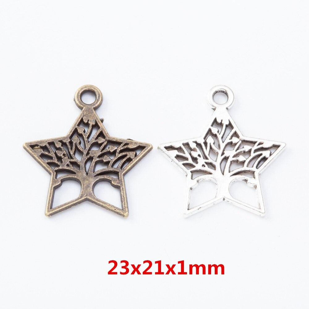 35 шт пятиконечная звезда цинковый сплав Подвески кулон подходит для DIY браслет ожерелье металлические ювелирные аксессуары 7432