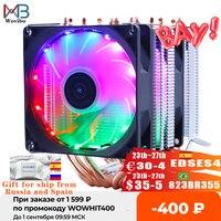 Кулер для процессора с 6 теплотрубками RGB, тихий радиатор, PWM 4PIN, 130 Вт, для Intel LGA 1150, 1151, 1155, 1200, 1366, 2011, X79, X99, AM3, AM4