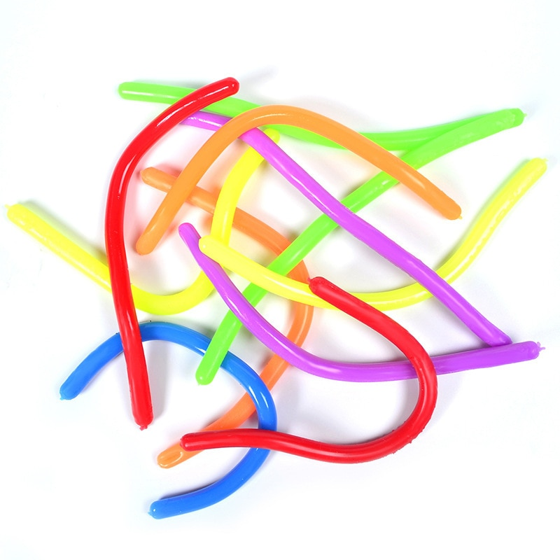 New 5Pcs TPR Elastic Noodles Stress Reliever Toy Vent Noodles Antistress Hand Adult Toys Children Squeeze Sensory Toys Gift enlarge