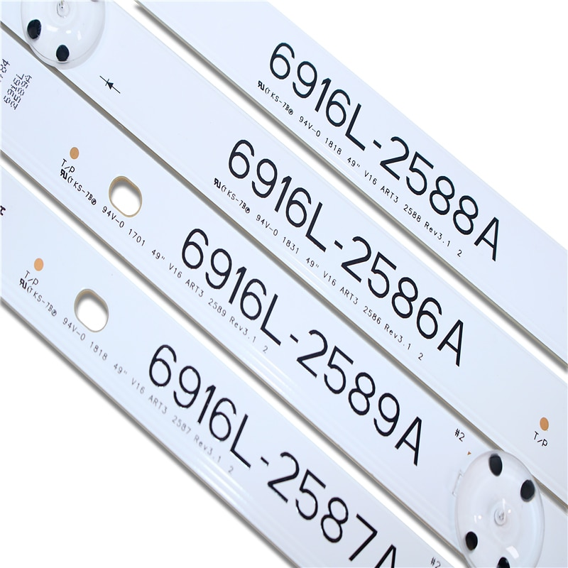 100%NEW original 80 PCS/set LED backlight strip bar for 6916L-2586A 6916L-2587A 6916L-2588A 6916L-2589A LC490DUE FJ M1 49LH604V enlarge