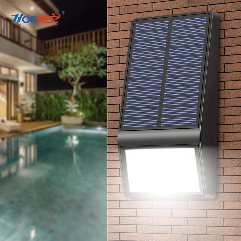 Lights 4PCS Solar Wall Lamp Radar Motion Sensor Porch Lights Waterproof IP65 Outdoor Lighting Super Bright Modern LED Wall Lamp enlarge