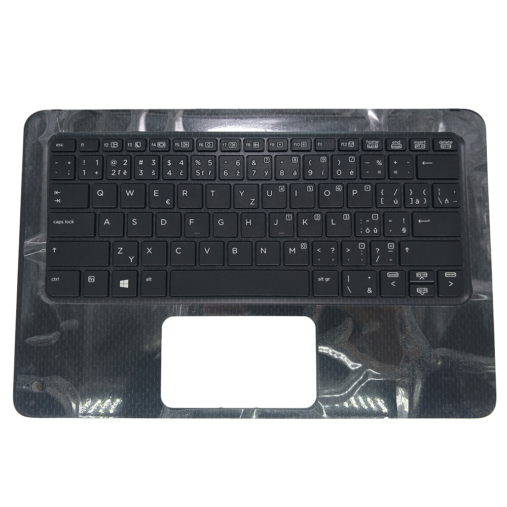 Teclado para ordenador portátil para HP Probook X360 11 G1 EE. UU. CZ República Checa CS negro con cubierta superior Palmrest 6070B1118402 918555-FL1 951784
