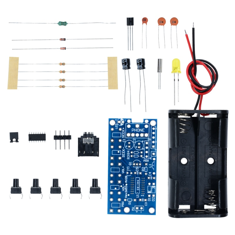 DIY Kit FM Stereo Radio Module Adjustable 76-108MHz Wireless Receiver DC 3V for DIY ElectronicProduction Training Welding Skills nktech cze 15b adjustable 0 3w 15w 87mhz 108mhz with pc control fm transmitter broadcast radio station stereo lcd backlight