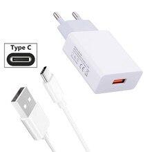 Pour Samsung A70 Google Pixel 3a 3 XL Xiao mi A3 mi 9T 9 rouge mi K20 Note 7 HTC U11 10 Evo Type C câble de Charge de données chargeur USB mural