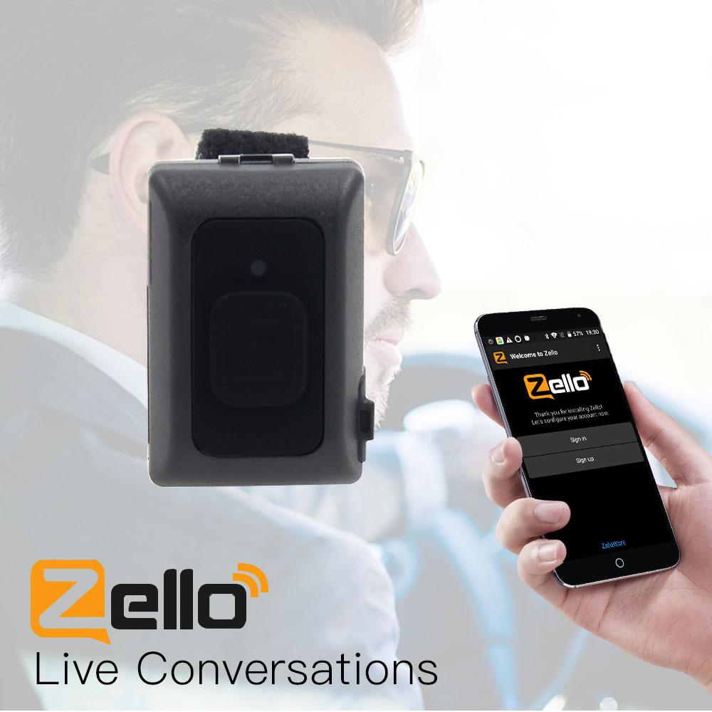 اللاسلكية بلوتوث PTT تحكم حر اليدين اسلكية تخاطب زر لالروبوت IOS الهاتف المحمول منخفضة الطاقة ل Zello العمل