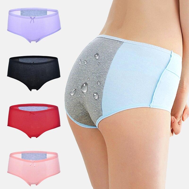 Las mujeres transpirable bragas período de prueba de fugas caliente las mujeres ropa interior impermeable de fibra de bambú de menstruación psicológica