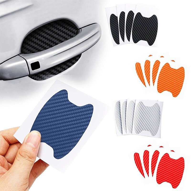Car Door Sticker Carbon Fiber for Mitsubishi ASX Lancer EVO X Outlander Pajero Sport