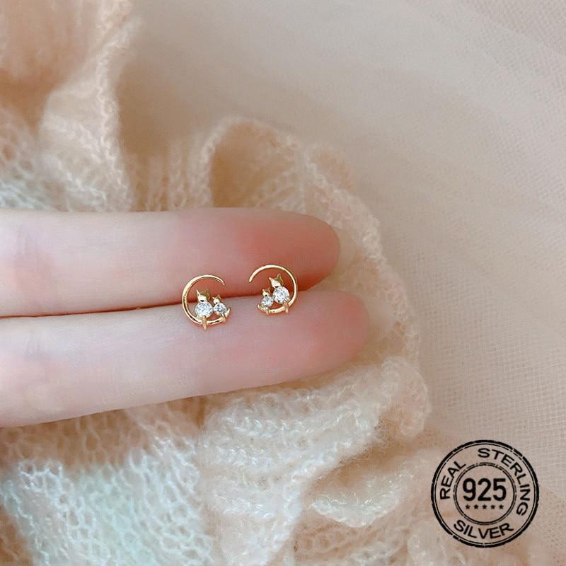 925-стерлингового-серебра-серьги-для-женщин-Золотой-Лунокот-с-украшением-в-виде-кристаллов-циркония-в-Корейском-стиле-модные-дизайнерские