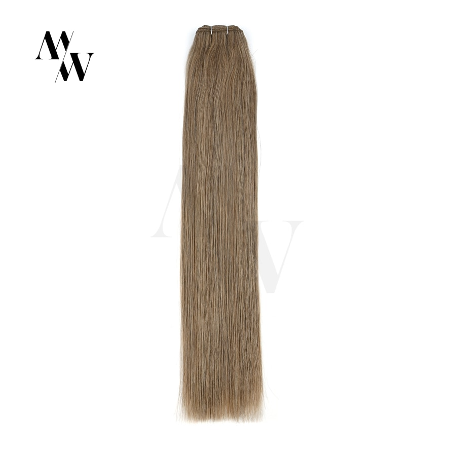 MW Black Brown Blonde Remy Human Hair Weft Extensioins 100% Natural Straight Brazilian Hair Weaves Bundles 100g/pc 20
