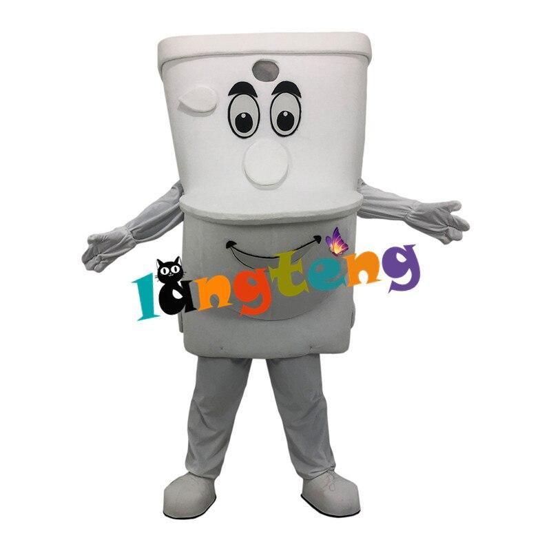 1163 الأبيض المرحاض الكرتون فستان بتصميم حالم زي التميمة بالجملة مخصص تأثيري شخصية للرسوم المتحركة البدلة