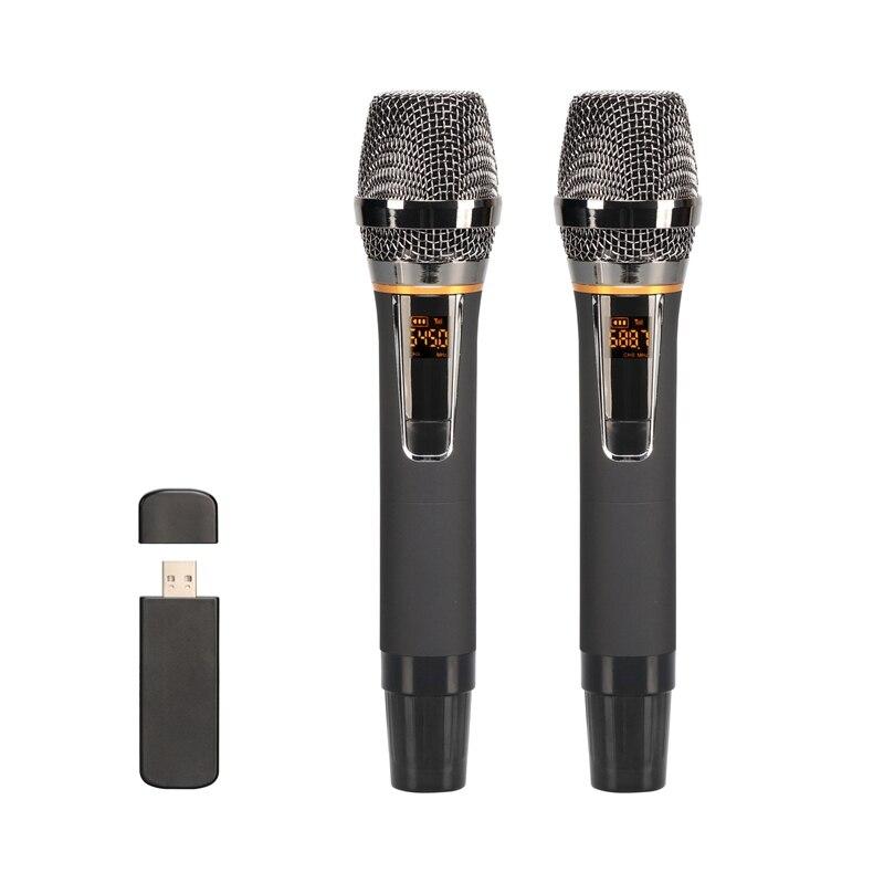 Microfone sem Fio Microfone sem Fio com Receptor as Ofertas Superiores Usb para Discurso de Reunião Metal Dinâmico Receptor Usb com