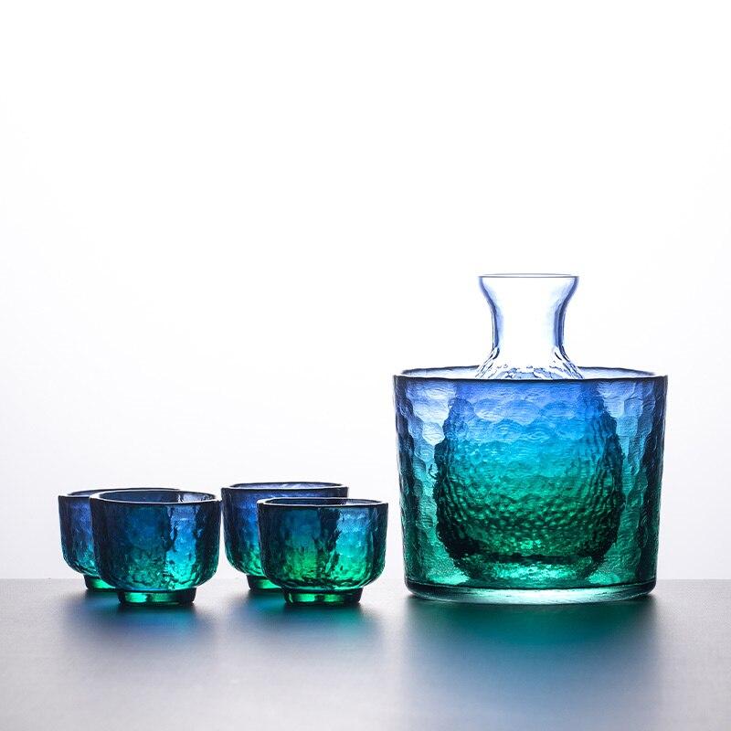 Juego de vasos de cristal transparentes de lujo, hechos a mano, estilo...