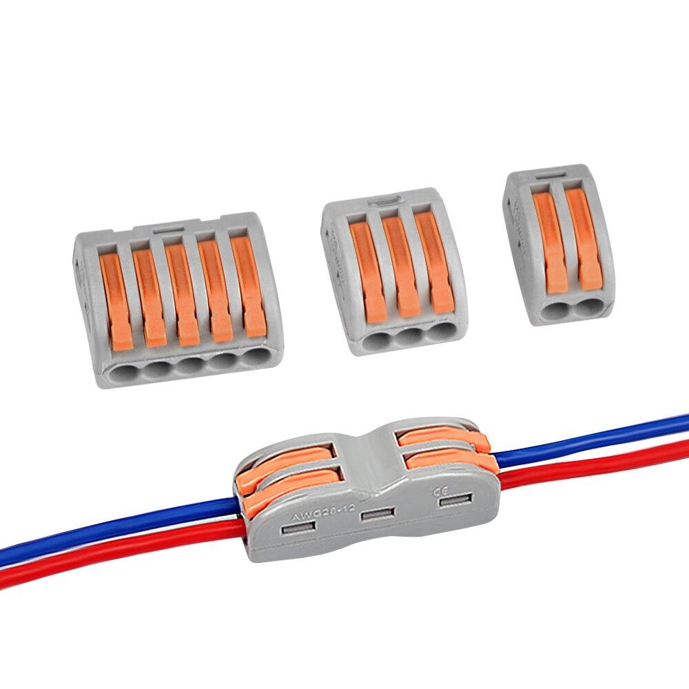 Conectores De Fios de Fiação Compacta Universal Conector do Cabo push-in Terminal Block 222-412 413 414 415 418 SPL-2 3