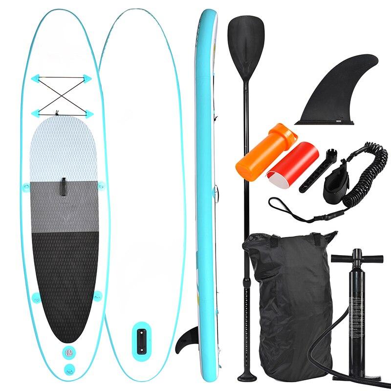 Stand up Paddle Board 320x78 SUP320 x 15 centímetros, turquesa/amarelo-SUP, prancha de surf, surf board incl. Acessórios