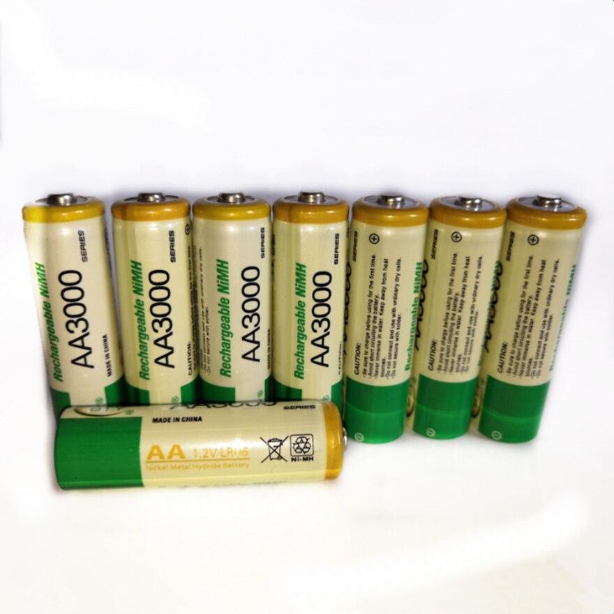 8 Stks/partij Grote Capaciteit 3000 Mah 1.2V Aa Oplaadbare Batterij Voor Kinderspeelgoed Aa Nimh Oplaadbare Batterij