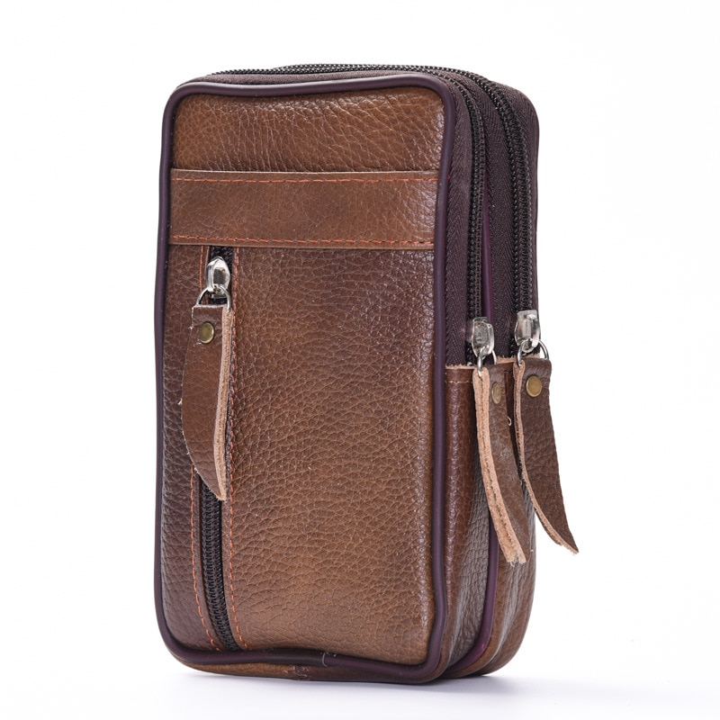 Mobile Phone Pouch Bags Men's Fanny Waist Packs Soft PU Leather Sports Travel Wallet Portable Small Coin Purse Case Belt Bum Bag luxury brand waist packs women crocodile pattern pu leather fit 5 5 inches phone funny bags ladies travel money wallet belt bag
