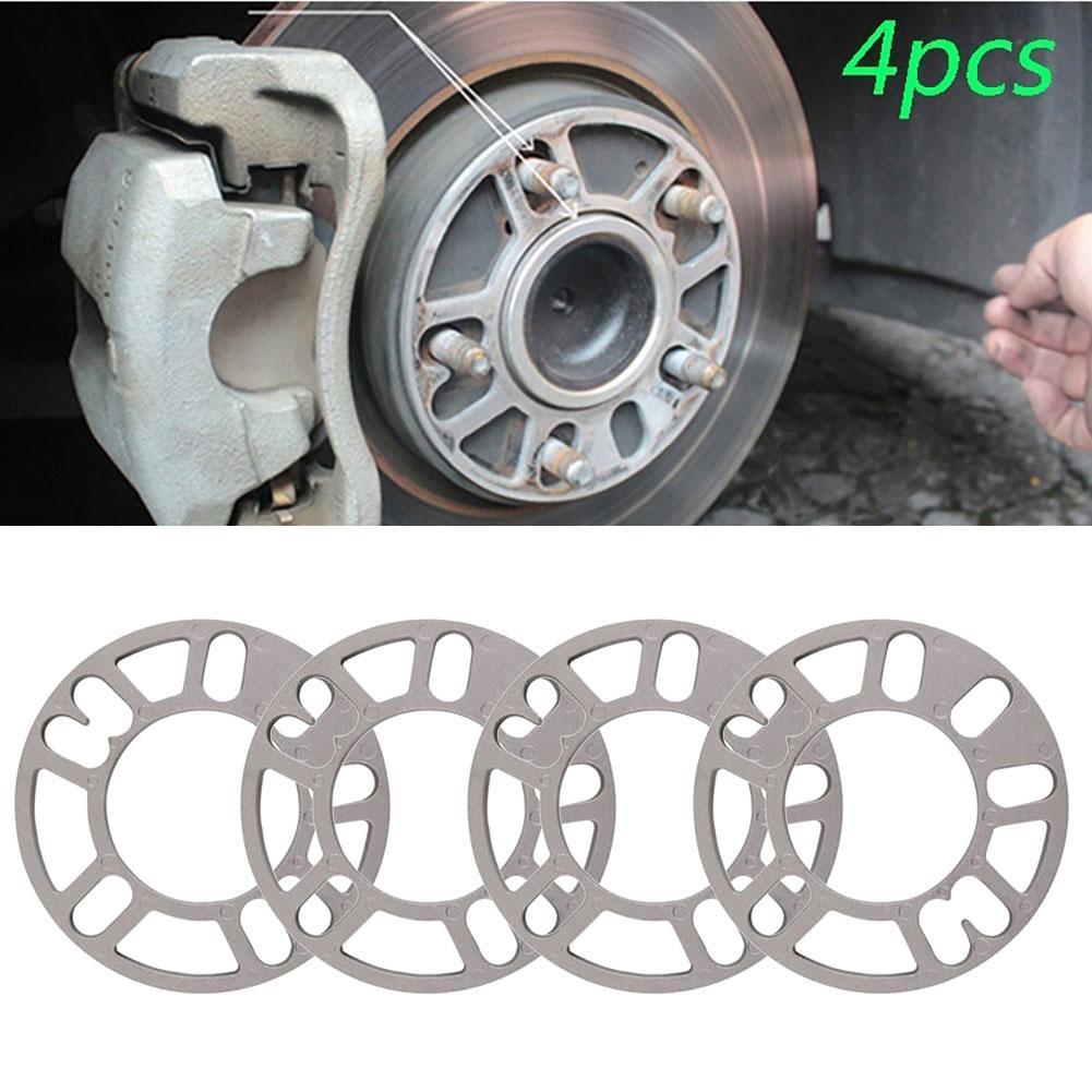 4Pcs 3mm 5mm 8mm 10mm Universal Aluminum Alloy Car Wheel Tire Spacers Shims Set Car Exterior Accessories