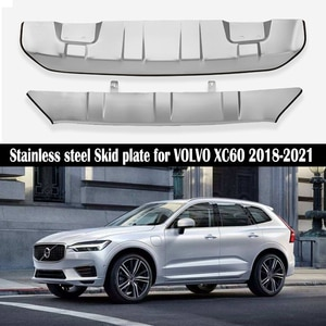 Front+ Rear Bumper For VOLVO XC60 2018 2019 2020 2021 Diffuser Guard Bumpers Lip protection cover skid plate Stainless steel
