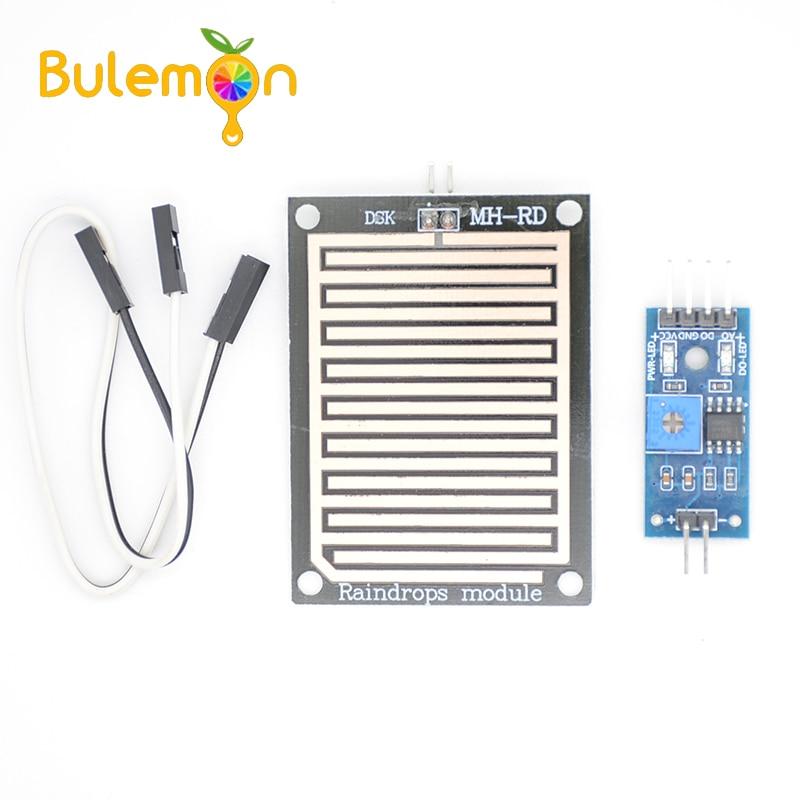 Módulo con sensor de gotas de lluvia y nieve Módulo de lluvia humedad del agua para Arduino